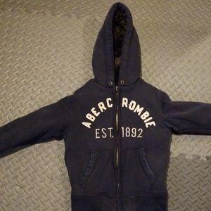 Abercrombie kids faux fur jacket